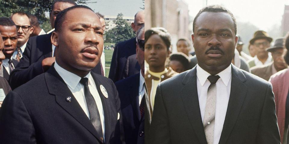 <p>Reverend Martin Luther King Jr.'s involvement in the 1965 march from Selma to Montgomery for voting rights played out on screen in the 2014 drama, <em>Selma</em>, with Oyelowo in the lead role as the late great activist. </p>