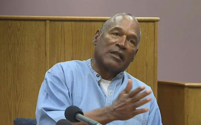 <p>O.J. Simpson appears via video for his parole hearing at the Lovelock Correctional Center in Lovelock, Nev., July 20, 2017. (Lovelock Correctional Center via AP) </p>