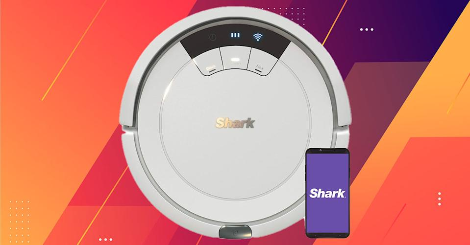 The Shark Ion robot vacuum is a voice-activated solution to traditional vacuuming — and it's on sale! (Photo: Amazon)