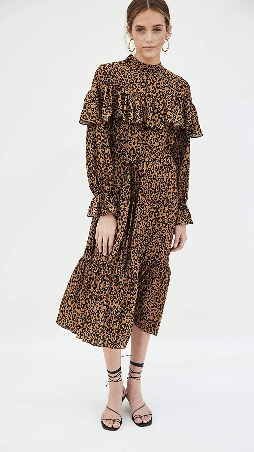 <p>This <span>OPT Kaelyn Dress</span> ($145) exudes autumnal vibes.</p>
