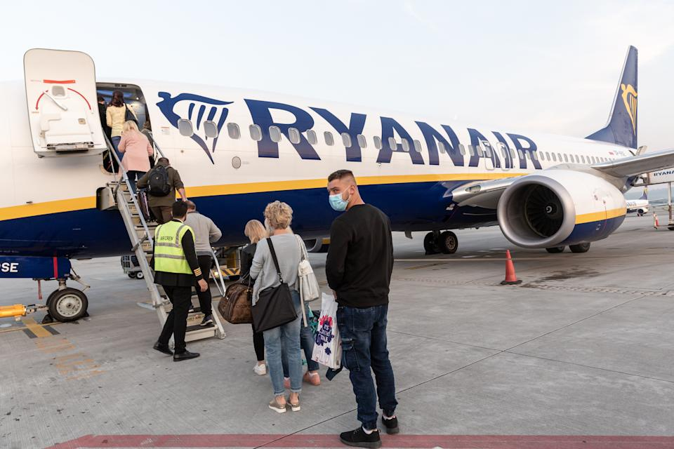 The CAA has applied to the courts for an enforcement order against Ryanair for refusing to pay compensation to delayed passengers. Credit: Getty.