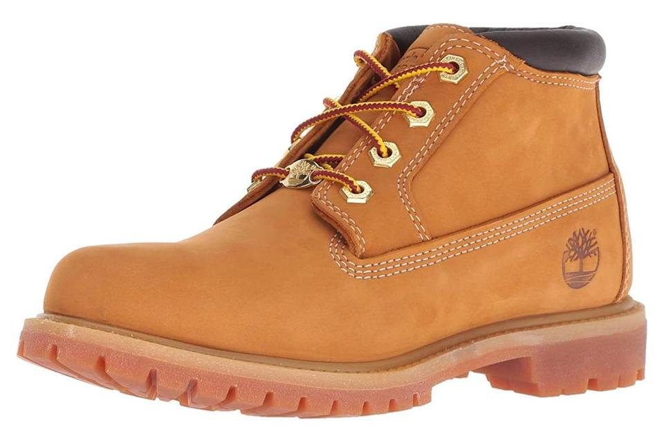 work boots, tan, timberland