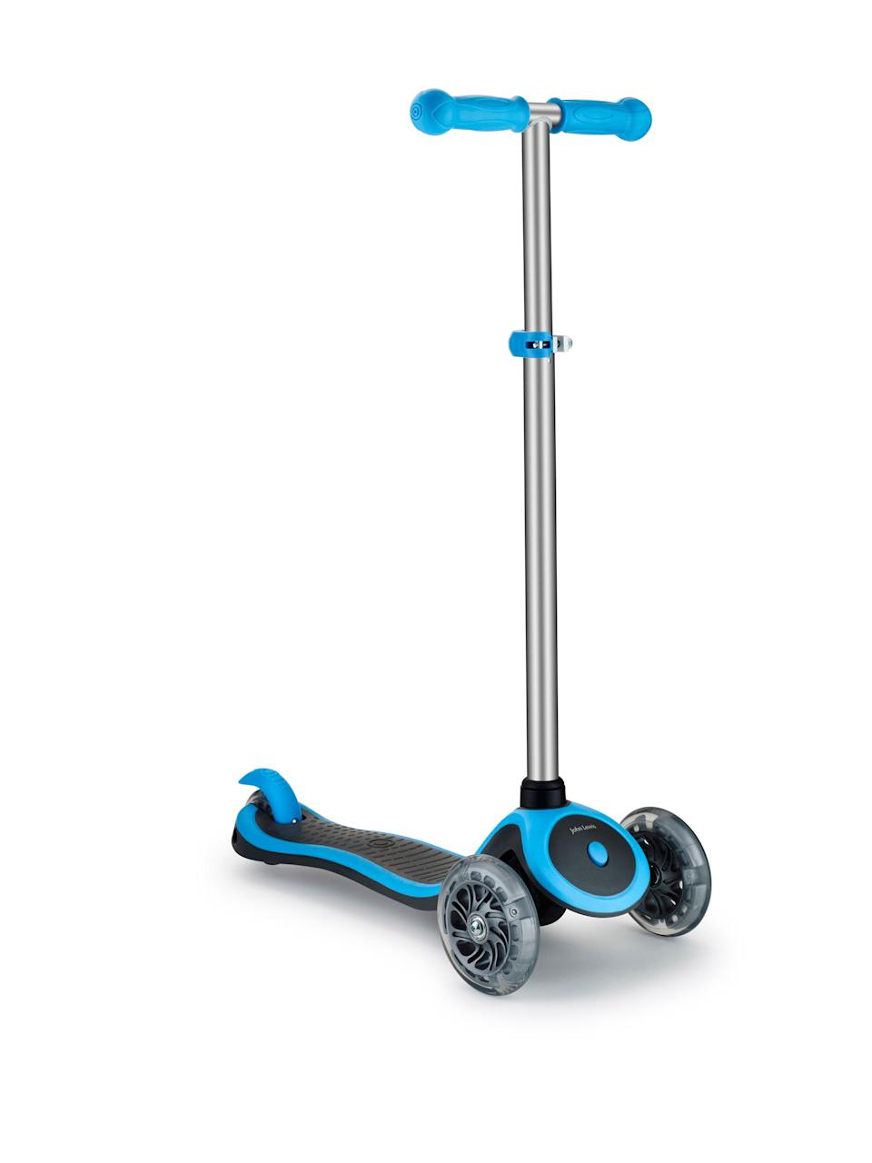 The latest scooter from John Lewis has a low deck for stability and is suitable from kids age three and upwards.<br />Price: £49.99