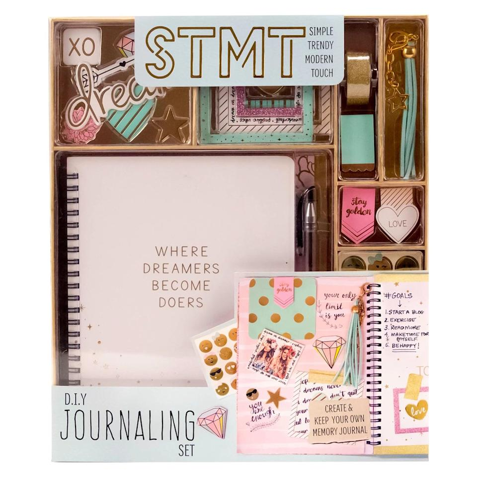 <p>Journaling can be such a great creative outlet for kids. This <span>STMT DIY Journaling Set</span> ($25) lets them customize their journal.</p>