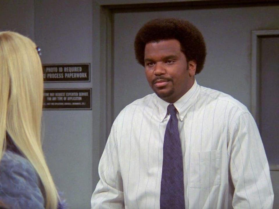 <p>Ignore <em>The Office </em>vibes: this is a screenshot of Craig Robinson's appearance on <em>Friends</em>. Craig had a very small role as a store clerk talking to Phoebe during the final season of the show. </p>