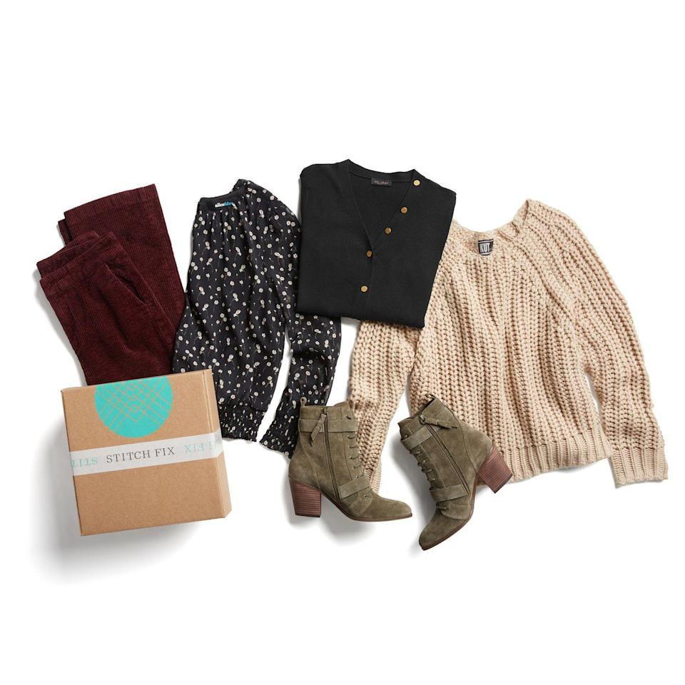 """<p><strong><em>Cost:</em></strong> $20 styling fee that's credited toward your purchase<br><strong><em>Who it's for:</em></strong> Men, women, and kids<strong><br><em>What you get</em></strong>: 5 items for adults ranging from $20-$400, or 8-12 items for kids starting at $10 to try on at home</p><p>Unlike most styling services, Stitch Fix has options for the <em>entire</em> family, with kids sizes 2T and up. It's one of the most popular clothing subscriptions on the market and has flexibility in allowing you to choose a specific date to have your """"fix"""" delivered, and whether you want them scheduled regularly or on demand.</p><p>You don't work directly with a stylist and you can't see which garments you'll get before they ship, though some users on our panel said they liked the element of surprise. Another plus: If you keep all of the items, you get a 25% discount off your purchase.</p><p>Overall it got mixed ratings from reviewers. Complaints ranged from the clothing being low quality to items being too expensive. On the flip side, several people said this service helped them try pieces they normally wouldn't have picked out on their own.</p><p><a class=""""link rapid-noclick-resp"""" href=""""https://go.redirectingat.com?id=74968X1596630&url=https%3A%2F%2Fwww.stitchfix.com%2F&sref=https%3A%2F%2Fwww.goodhousekeeping.com%2Fclothing%2Fg31156814%2Fbest-clothing-subscription-boxes%2F"""" rel=""""nofollow noopener"""" target=""""_blank"""" data-ylk=""""slk:SHOP NOW"""">SHOP NOW</a></p>"""