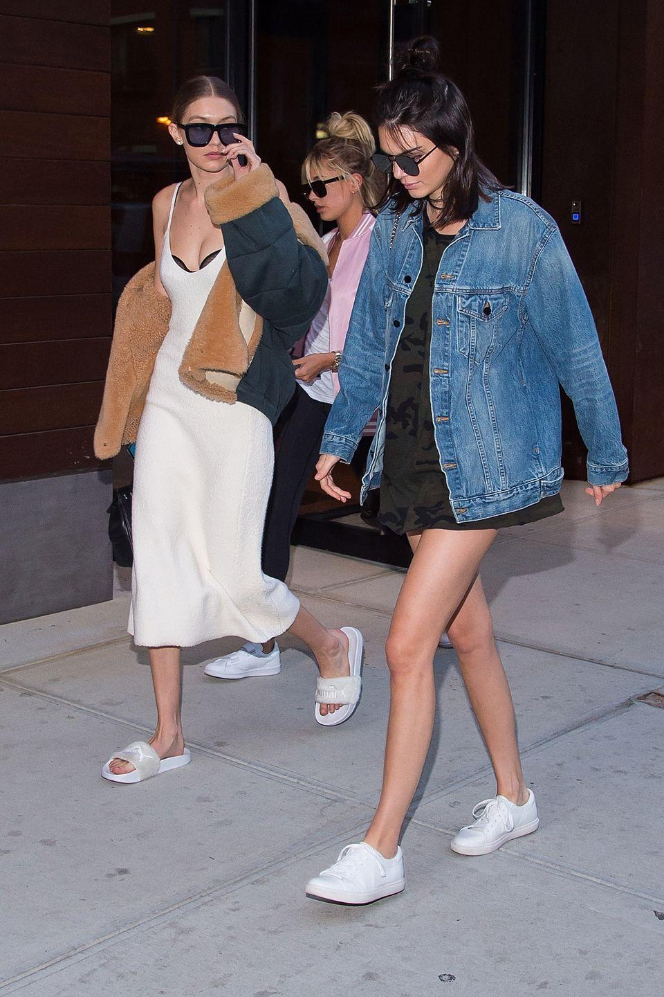<p>Model BFFs Kendall Jenner and Gigi Hadid in New York City, June 2016</p>