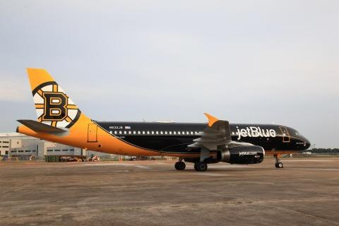 JetBlue, Boston's Largest Airline, Scores Big with New Custom Livery Dedicated to the Boston Bruins