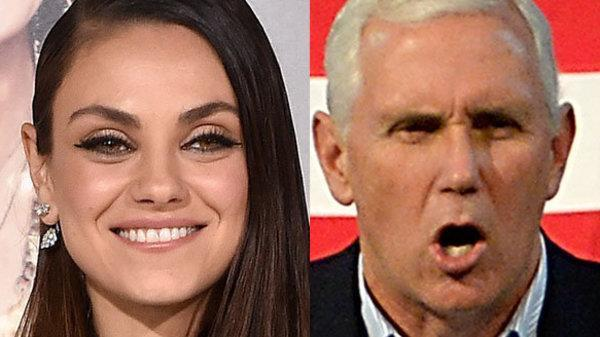 Actress Mila Kunis expertly trolls Vice President Mike Pence on a monthly basis.