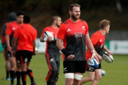 FILE PHOTO: Rugby Union - New Zealand Captains Run - Surenois Rugby Club, Suresnes, France - November 10, 2017 New Zealand's Kieran Read during the captains run REUTERS/Benoit Tessier