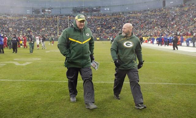 "<span class=""element-image__caption"">Green Bay Packers head coach Mike McCarthy leaves Lambeau Field for the final time as head coach.</span> <span class=""element-image__credit"">Photograph: Jeffrey Phelps/AP</span>"
