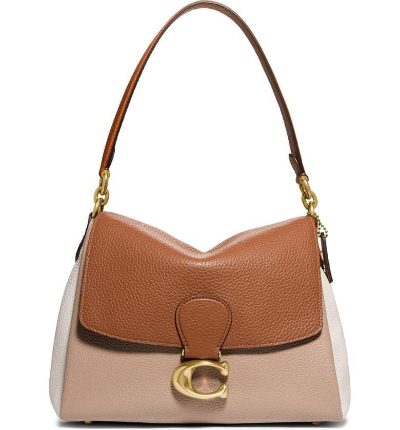 <p>How chic is this <span>Coach May Colorblock Pebble Leather Shoulder Bag</span> ($395)?</p>