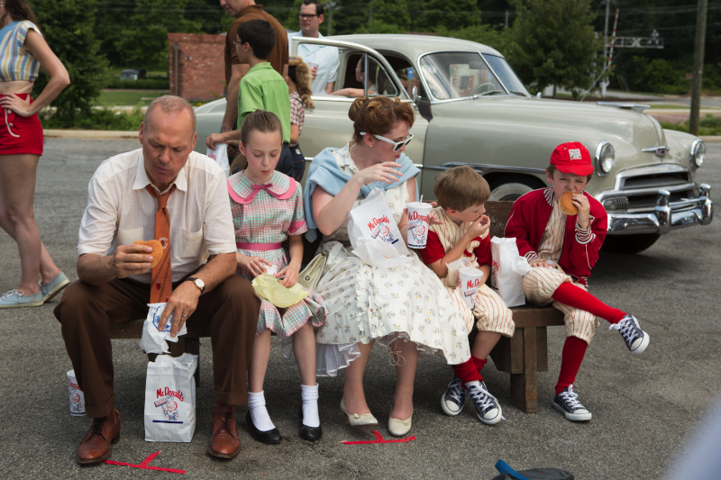Ray Kroc's (Michael Keaton) first experience with McDonald's in