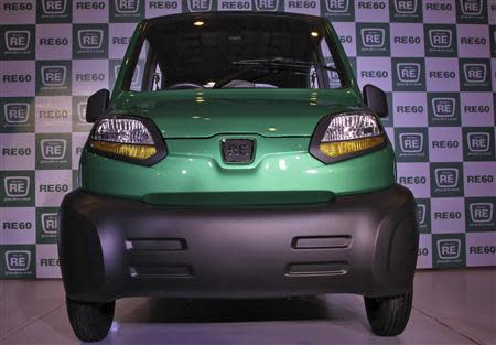 Bajaj's four-wheeled RE60 is pictured in New Delhi in this January 3, 2012 file photo. REUTERS/B Mathur/Files