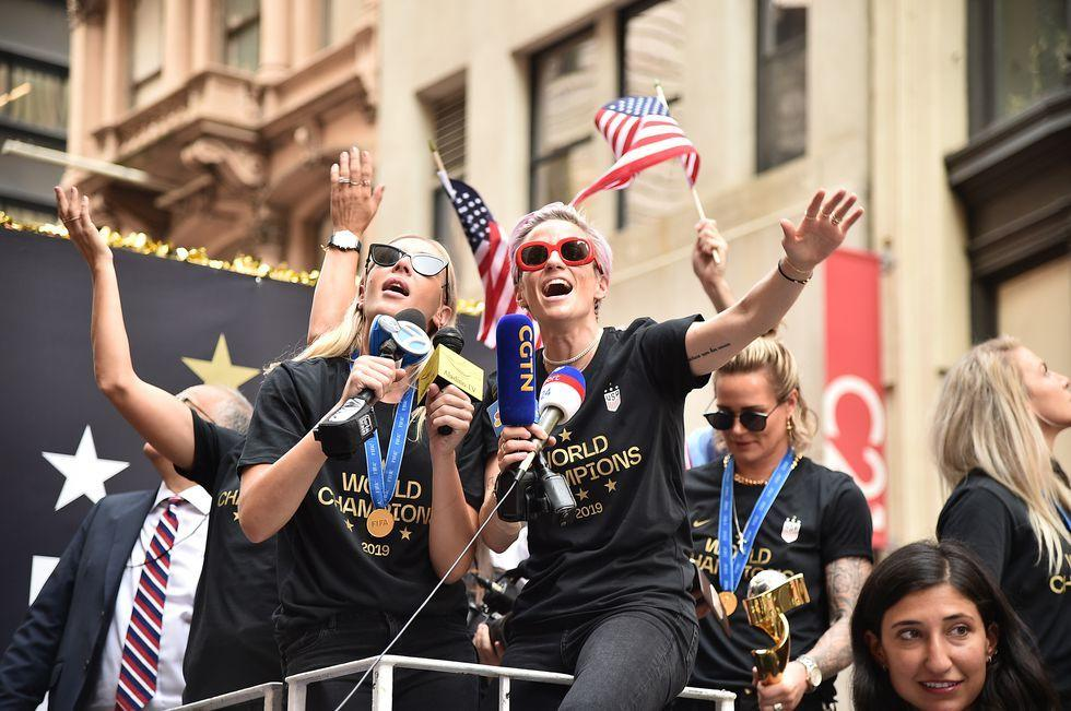 "<p>The last time New York held one of its beloved ticker-tape parades was in 2015, to honor... the U.S. National Women's Soccer Team, who'd just won the World Cup. Four years later, the USWNT—lead by the charismatic <a href=""https://www.prevention.com/life/a28311510/megan-rapinoe-golden-boot-winner/"" target=""_blank"">Megan Rapinoe</a> and <a href=""https://www.prevention.com/fitness/a28311433/alex-morgan-us-womens-national-soccer-team/"" target=""_blank"">Alex Morgan</a>—have done it again, and the city is pulling out all the stops to celebrate. Here, all the best photos from today's parade.<br></p>"
