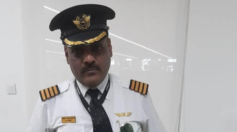 Rajan Mahbubani (48) was wearing the uniform of the airline pilot when he was nabbed from the departure gate of the airport on Monday. (Express photo)
