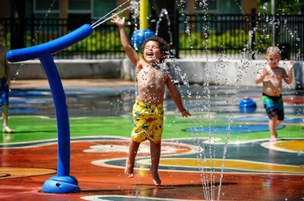 After flip-flopping on plans this week, authorities say splash pads will be allowed to open this long weekend after all. (Charles Contant/CBC - image credit)