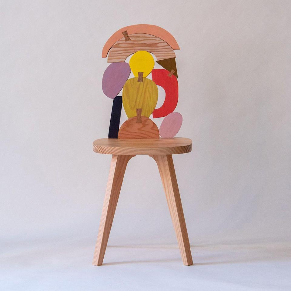 """<p><strong>Donna Wilson</strong></p><p>donnawilson.com</p><p><strong>$768.00</strong></p><p><a href=""""https://www.donnawilson.com/product/abstract-assembly-chair-no-3"""" rel=""""nofollow noopener"""" target=""""_blank"""" data-ylk=""""slk:Shop Now"""" class=""""link rapid-noclick-resp"""">Shop Now</a></p><p>British home decor designer Donna Wilson is known for her playful designs and electric pieces.</p>"""