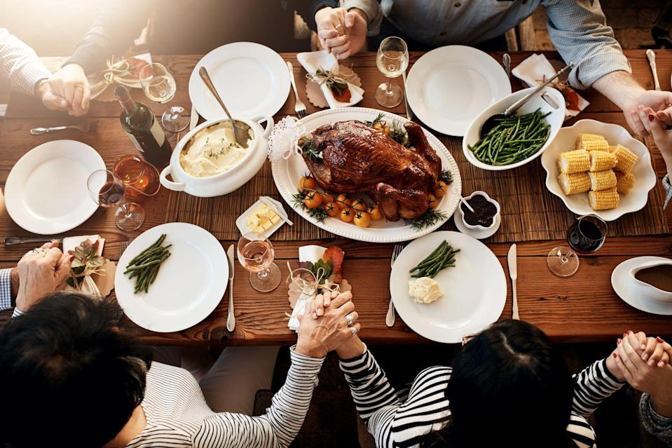 "<p>Your Thanksgiving table is set, the <a href=""https://www.countryliving.com/food-drinks/g896/thanksgiving-side-dishes/"" rel=""nofollow noopener"" target=""_blank"" data-ylk=""slk:Thanksgiving side dishes"" class=""link rapid-noclick-resp"">Thanksgiving side dishes</a> are steaming, and you're surrounded by your nearest and dearest—it's finally Thanksgiving Day! As the <a href=""https://www.countryliving.com/food-drinks/g637/thanksgiving-menus/"" rel=""nofollow noopener"" target=""_blank"" data-ylk=""slk:Thanksgiving menu"" class=""link rapid-noclick-resp"">Thanksgiving menu</a> is finally ready to serve, it's a safe bet that mouths are watering, stomachs are growling, and your family's excited for the <a href=""https://www.countryliving.com/food-drinks/g1365/turkey-recipes/"" rel=""nofollow noopener"" target=""_blank"" data-ylk=""slk:turkey recipes"" class=""link rapid-noclick-resp"">turkey recipes</a> to be carved. But bear in mind that the day dedicated to thankfulness deserves more than just eating yourself into a food coma (although that's still a given). Before you pass the <a href=""https://www.countryliving.com/food-drinks/g2696/mashed-potato-recipes/"" rel=""nofollow noopener"" target=""_blank"" data-ylk=""slk:mashed potatoes"" class=""link rapid-noclick-resp"">mashed potatoes</a> and swap stories of gratitude, take some time to bless your crew (and food!) with our selection of the best Thanksgiving prayers. Whether you're put on the spot during Thanksgiving dinner or asked to commemorate the harvest in advance, all eyes will be fixed on you—so choose your words wisely! <br></p><p>Whether you're looking for a short and sweet Thanksgiving prayer to express gratitude, or a more traditional Thanksgiving-themed prayer, you've come to the right place. From <a href=""https://www.countryliving.com/life/inspirational-stories/g33540159/thanksgiving-poems/"" rel=""nofollow noopener"" target=""_blank"" data-ylk=""slk:Thanksgiving poems"" class=""link rapid-noclick-resp"">Thanksgiving poems</a> to <a href=""https://www.countryliving.com/life/a28471370/thanksgiving-bible-verses/"" rel=""nofollow noopener"" target=""_blank"" data-ylk=""slk:Thanksgiving Bible verses"" class=""link rapid-noclick-resp"">Thanksgiving Bible verses</a>, there's a meaningful ode for every family's feast, including a few rhyming verses for the kids to recite (the kids' table is also the perfect place to test out your <a href=""https://www.countryliving.com/life/a28522581/thanksgiving-jokes/"" rel=""nofollow noopener"" target=""_blank"" data-ylk=""slk:Thanksgiving jokes"" class=""link rapid-noclick-resp"">Thanksgiving jokes</a>). No matter how you commemorate your special day, don't forget to set the mood with some <a href=""https://www.countryliving.com/entertaining/a22530294/thanksgiving-songs/"" rel=""nofollow noopener"" target=""_blank"" data-ylk=""slk:Thanksgiving songs"" class=""link rapid-noclick-resp"">Thanksgiving songs</a>. Who knows? You might even get inspired to write your own original Thanksgiving prayer!</p>"