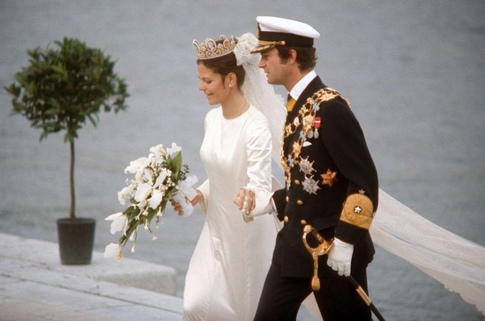 "<p>Silvia Sommerlath was working as an interpreter and host at the 1972 Olympics, where she met Carl XVI. In interviews, the two claimed <a href=""http://www.executivestyle.com.au/the-commoners-who-marry-into-royalty-39imb"" rel=""nofollow noopener"" target=""_blank"" data-ylk=""slk:they just &quot;clicked"" class=""link rapid-noclick-resp"">they just ""clicked</a>,"" and were married in June 1976.</p>"