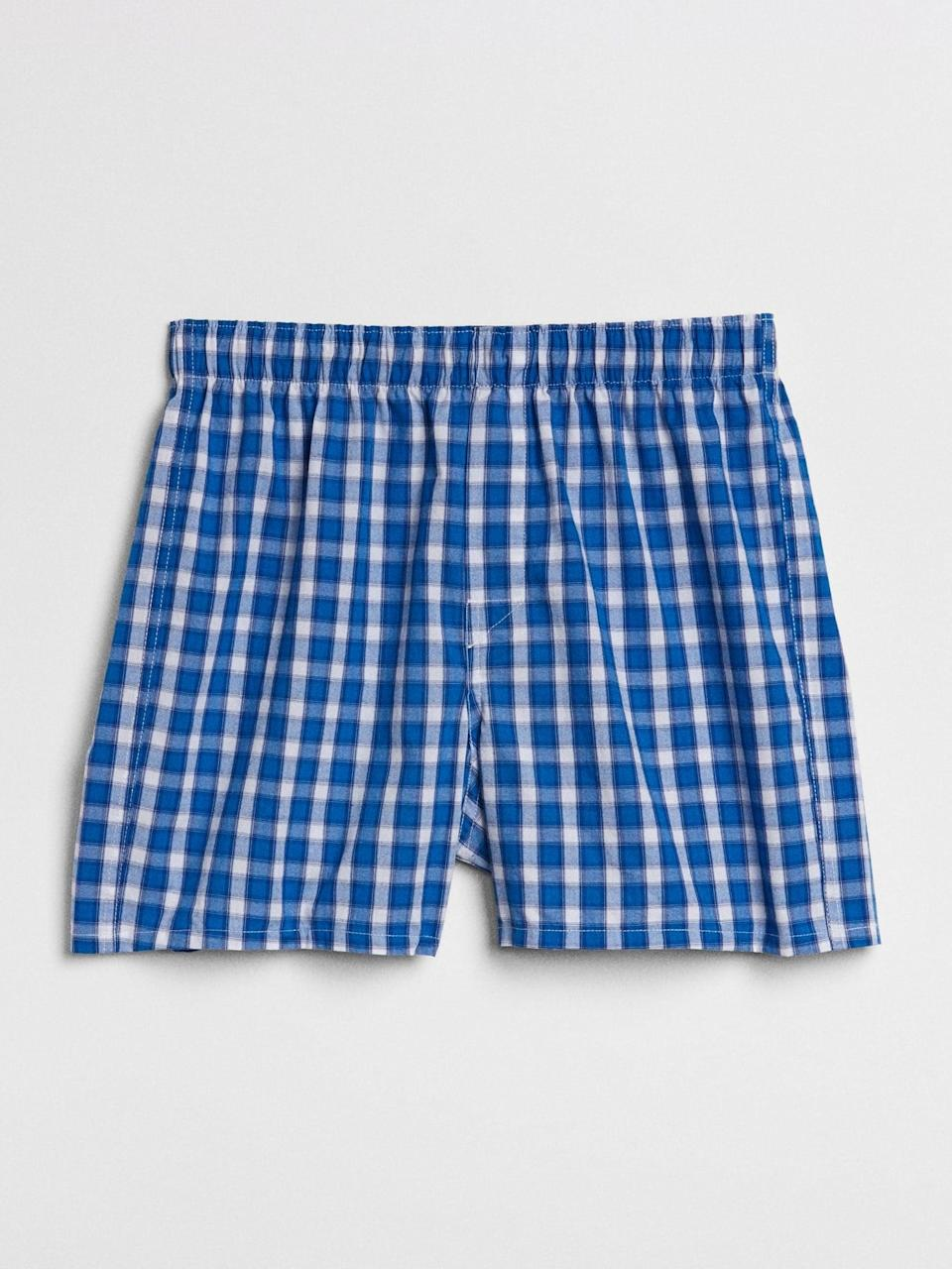 "<p>These <span>Gap 4.5"" Box Plaid Boxers</span> ($8, originally $15) are on sale, get them in a few colors! </p>"