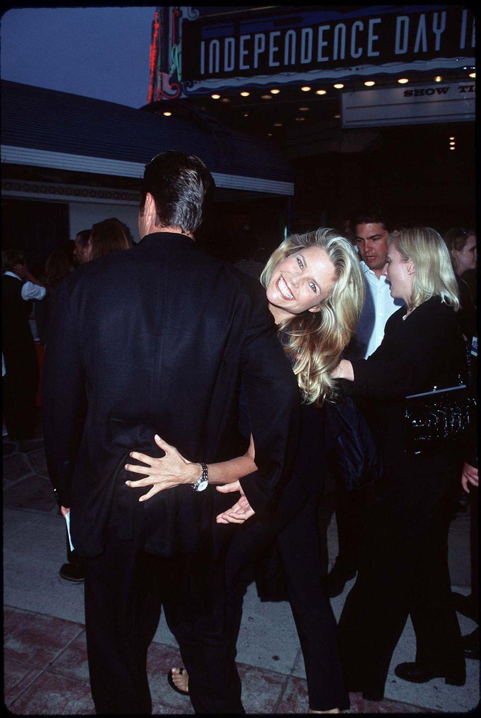 <p>Christie Brinkley with her soon-to-be fourth husband, architect Peter Cook. </p>