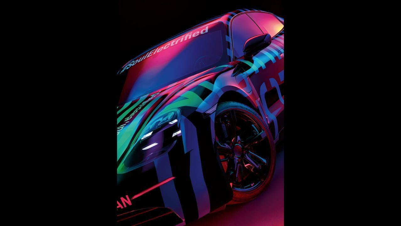 <p>Porsche is showing a glimpse of what looks like a prototype version of the Taycan. </p>