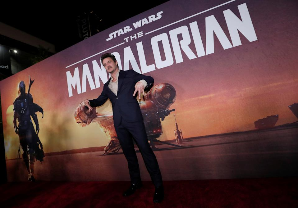 "Cast member Pedro Pascal poses at the premiere for the television series ""The Mandalorian"" in Los Angeles, California, U.S., November 13, 2019. REUTERS/Mario Anzuoni"
