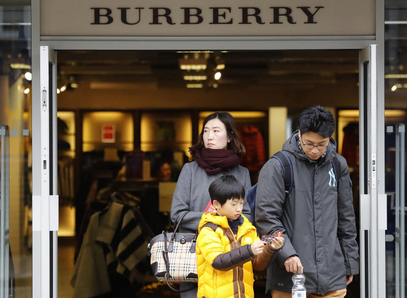 Burberry shares plunge on concerns over new strategy