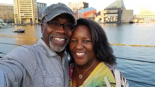 PHOTO: Keith Smith of poses with his wife, Jacquelyn Smith, who was stabbed to death by a panhandler in Baltimore on Dec. 1, 2018. (Courtesy Keith Smith)