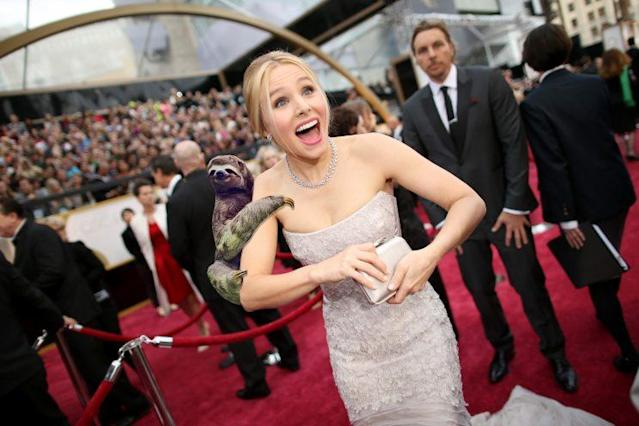 Kristen Bell at the 2014 Oscars. (Photo: Getty)