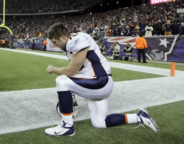 Tim Tebow was traded to the Jets when the Broncos landed Peyton Manning (AP)