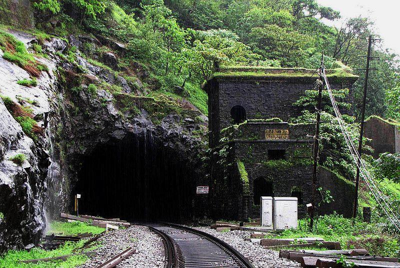 The old cabin and the tunnel signal a welcome relief from rain for a few moments.