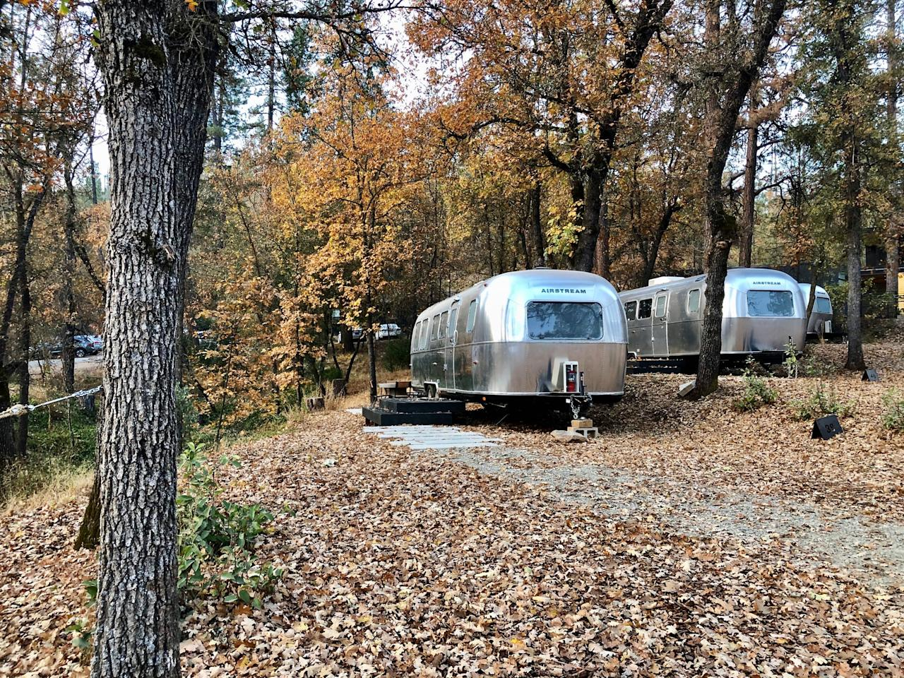 <p>The airstreams are not just placed anywhere - instead, each one is carefully placed along the roads, pond, and landscaping so that you don't feel cramped or too close to other guests.</p>
