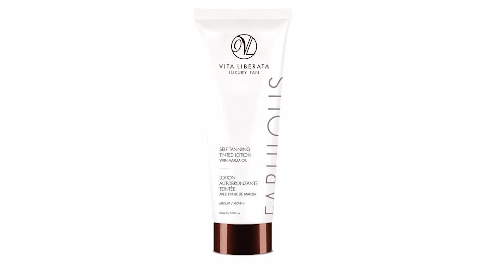 <p>Try a tinted product like Vita Liberata Tinted Lotion. The coloured pigments within the lotion show you where you've applied the product and you also get an instant mini-tan before it develops fully. </p>