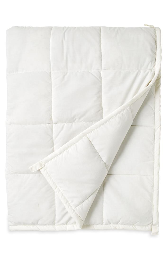 """At this point, we'll buy pretty much anything that promises some anxiety relief. Add organic cotton to the mix and we're sold for sure. $150, Nordstrom. <a href=""""https://www.nordstrom.com/s/wellbe-embrace-organic-cotton-weighted-blanket/5482914"""" rel=""""nofollow noopener"""" target=""""_blank"""" data-ylk=""""slk:Get it now!"""" class=""""link rapid-noclick-resp"""">Get it now!</a>"""