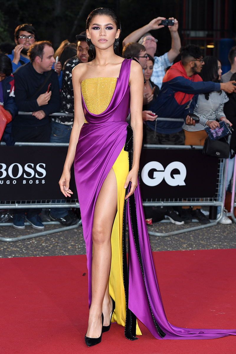 <p>This Ralph & Russo Couture dress, worn to the GQ Men of the Years Awards is a masterclass in designer draping.</p>