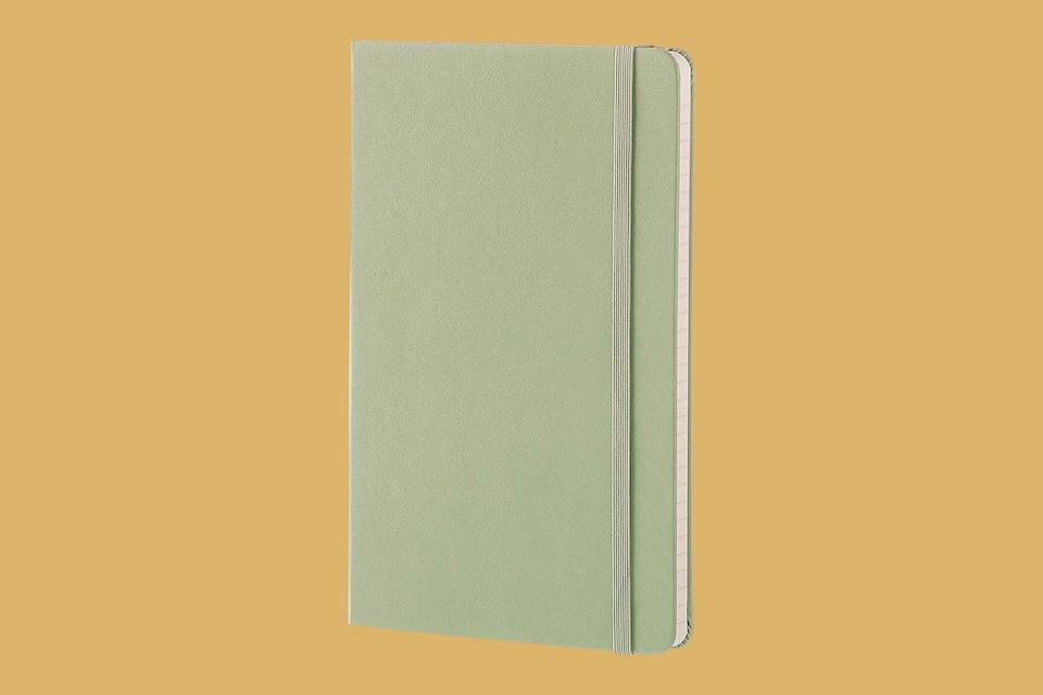 "<p>Note-taking happens throughout a teacher's day—in class, at meetings, and during off-hour lesson-planning, too. For that, turn to this classic standby: a Moleskin notebook. It's beloved for its slim design, quality paper, and elastic closure band.</p> <p><strong><em>Shop Now: </em></strong><em>Moleskine Classic Hard-Cover Notebook,</em> <em>$14.95, <a href=""https://goto.target.com/c/249354/81938/2092?subId1=MSL27HolidayGiftsforYourFavoriteTeacherrhaarsChrGal7992515202010I&u=https%3A%2F%2Fwww.target.com%2Fp%2Fmoleskine-college-ruled-hard-cover-composition-notebook-3-5-x-5-5-green%2F-%2FA-50278137%3Fref%3Dtgt_adv_XS000000%26amp%3BAFID%3Dgoogle_pla_df%26amp%3Bfndsrc%3Dtgtao%26amp%3BCPNG%3DPLA_Seasonal%2BShopping_Local%26amp%3Badgroup%3DSC_Seasonal%26amp%3BLID%3D700000001170770pgs%26amp%3Bnetwork%3Dg%26amp%3Bdevice%3Dc%26amp%3Blocation%3D9002280%26amp%3Bds_rl%3D1246978%26amp%3Bds_rl%3D1247068%26amp%3Bds_rl%3D1248099%26amp%3Bgclid%3DCjwKCAjwn9v7BRBqEiwAbq1EywGPT8c4LIWd6NQHyhEhFfC8oRw1asMHwHR5lUOlWNwb9G1uLH4b8xoCF5YQAvD_BwE%26amp%3Bgclsrc%3Daw.ds"" rel=""nofollow noopener"" target=""_blank"" data-ylk=""slk:target.com"" class=""link rapid-noclick-resp"">target.com</a></em><em>.</em></p>"