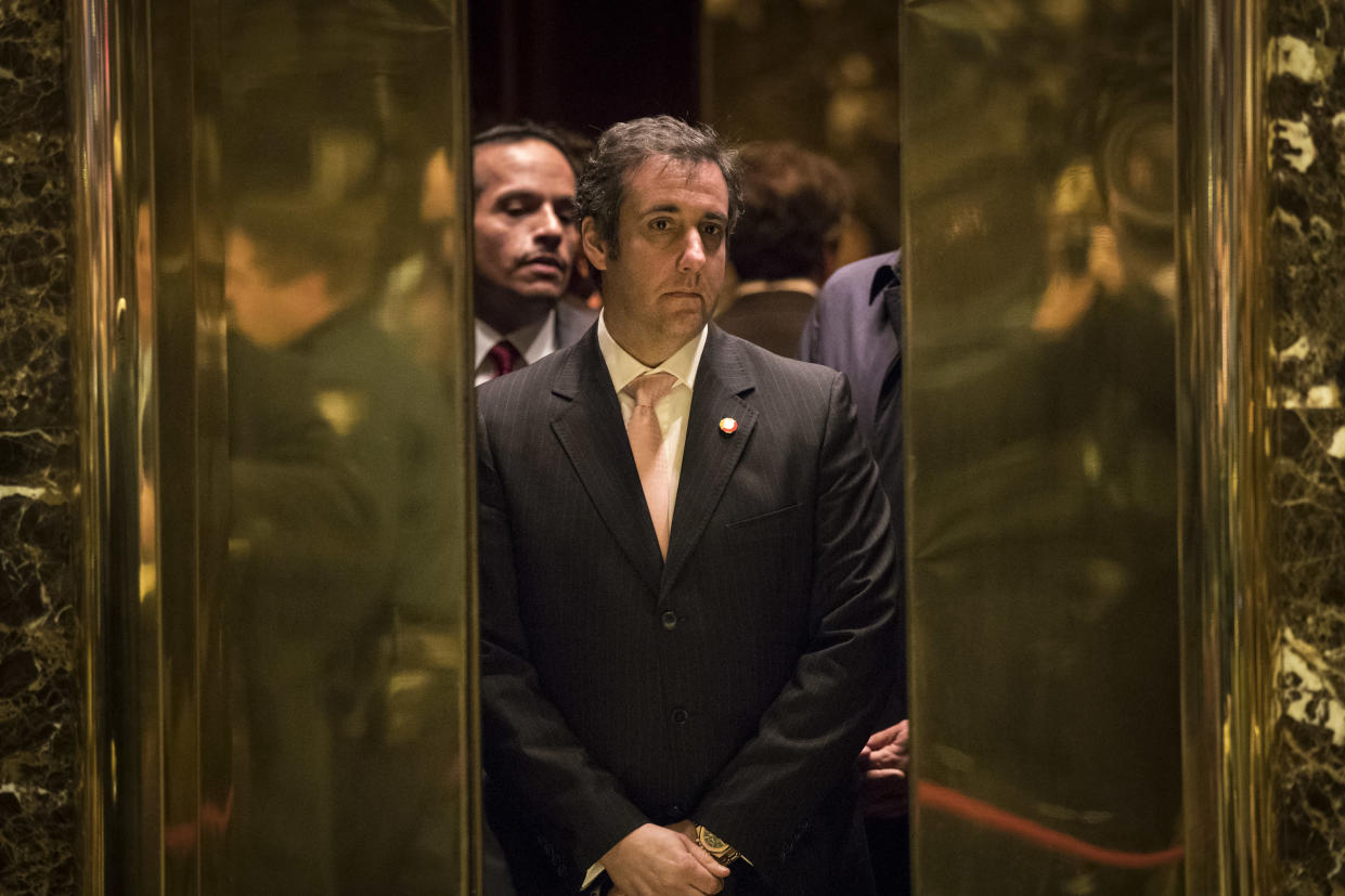 Michael Cohen, personal lawyer for President-elect Donald Trump, at Trump Tower in December. (Photo: Drew Angerer/Getty Images)