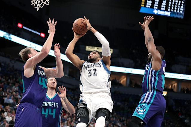 Karl-Anthony Towns has All-NBA talent, but might be trying to do too much by himself. (Getty Images)