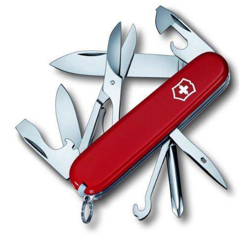 """<p><strong>Victorinox</strong></p><p>amazon.com</p><p><strong>$33.99</strong></p><p><a href=""""https://www.amazon.com/dp/B000MLU8PE?tag=syn-yahoo-20&ascsubtag=%5Bartid%7C2141.g.30151004%5Bsrc%7Cyahoo-us"""" rel=""""nofollow noopener"""" target=""""_blank"""" data-ylk=""""slk:Shop Now"""" class=""""link rapid-noclick-resp"""">Shop Now</a></p><p>Even if he's already got a multitool stashed somewhere, he'll use—and cherish—a good, old-fashioned Swiss army knife. It performs 14 functions, it's perfect for any outdoor activity, and it just looks good.</p>"""