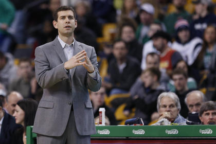 Celtics head coach Brad Stevens sees it all coming together. (Greg M. Cooper-USA TODAY Sports)