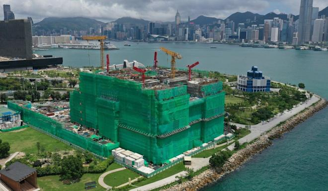 The Hong Kong Palace Museum under construction in June. Photo: Winson Wong