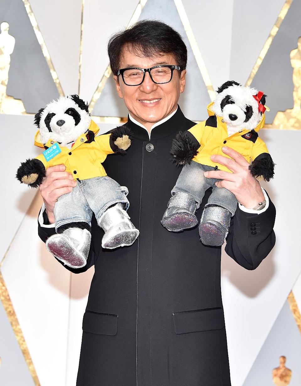 <p>Jackie Chan attends the 89th Annual Academy Awards at Hollywood & Highland Center on February 26, 2017 in Hollywood, California. (Photo by Kevin Mazur/Getty Images) </p>