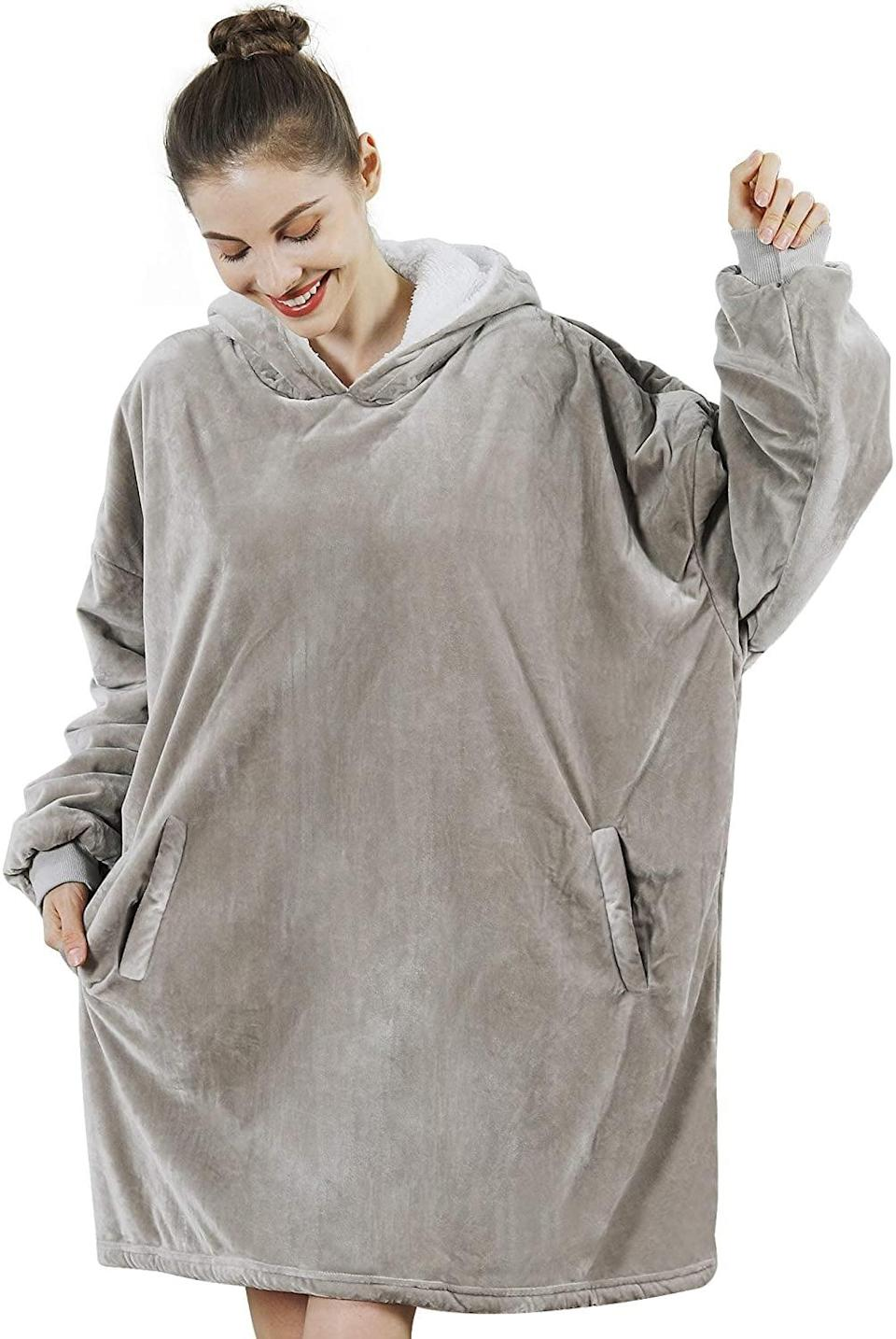 <p>What's not to love about the <span>AmyHomie Blanket Sweatshirt</span> ($24, originally $30)? You'll be so cozy and never want to take it off.</p>