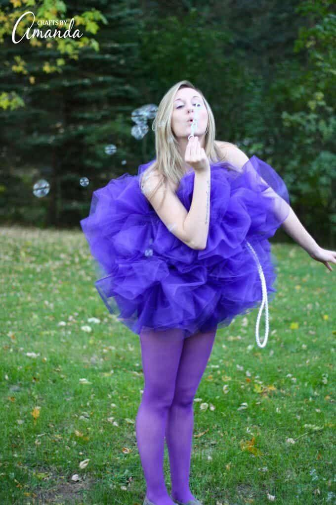 """<p>For a squeaky clean costume good for girls of any age, this DIY'er is a must.</p><p><strong>Get the tutorial at <a href=""""https://craftsbyamanda.com/shower-pouf-costume/"""" rel=""""nofollow noopener"""" target=""""_blank"""" data-ylk=""""slk:Crafts by Amanda"""" class=""""link rapid-noclick-resp"""">Crafts by Amanda</a>.</strong></p><p><a class=""""link rapid-noclick-resp"""" href=""""https://www.amazon.com/Expo-Classic-Tulle-25-Yard-Purple/dp/B007Q2JJI4/ref=asc_df_B007Q2JJI4/?tag=syn-yahoo-20&ascsubtag=%5Bartid%7C10050.g.22118522%5Bsrc%7Cyahoo-us"""" rel=""""nofollow noopener"""" target=""""_blank"""" data-ylk=""""slk:SHOP TULLE"""">SHOP TULLE</a><br></p>"""