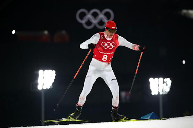 Nordic Combined Events - Pyeongchang 2018 Winter Olympics - Men's Team 4 x 5 km Final - Alpensia Cross-Country Skiing Centre - Pyeongchang, South Korea - February 22, 2018 - Pawel Slowiok of Poland competes. REUTERS/Carlos Barria