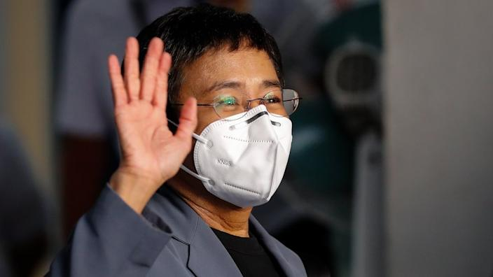 Maria Ressa said the charges were politically motivated