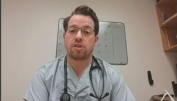 Dr. Gabriel St-Amand works in the emergency room at the Edmundston Regional Hospital.