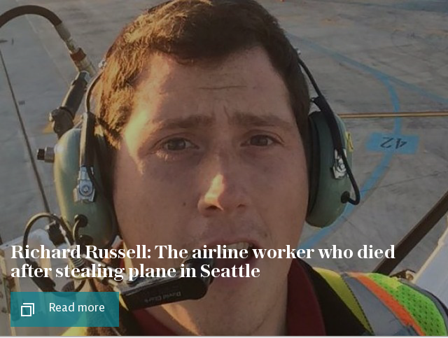 Richard Russell: The airline worker who died after stealing plane in Seattle